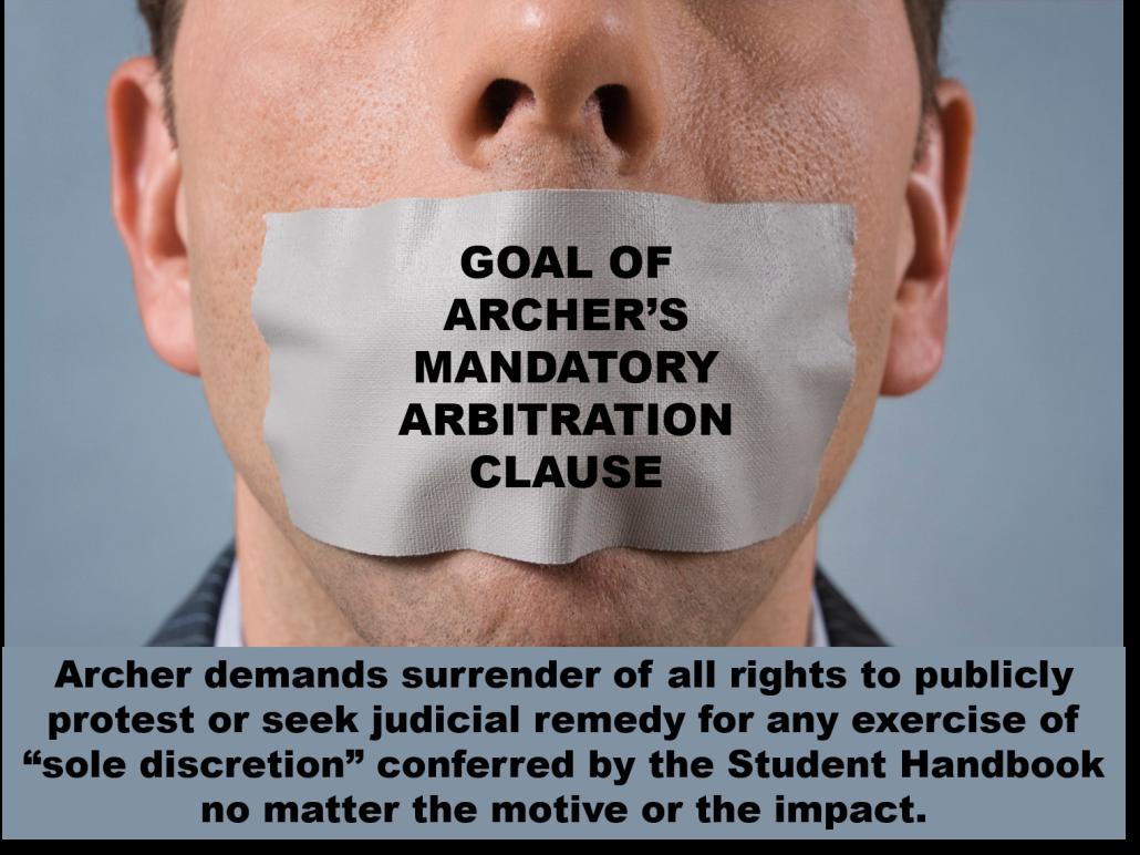 0 Archer arbitration gag